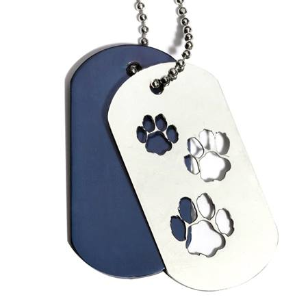 Slider Dog Tag - Paw Prints