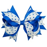 Spirit Hair Bow Clip - Blue/White