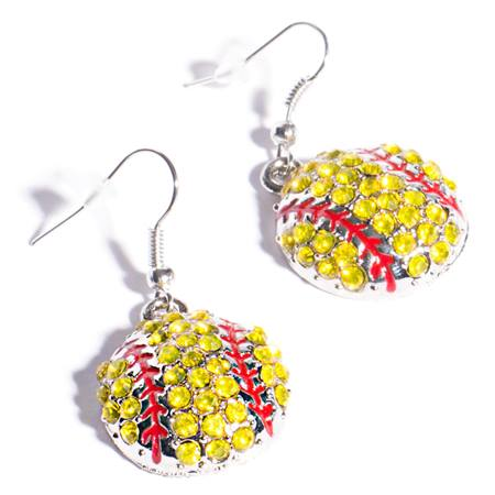 Spirit Softball Earrings