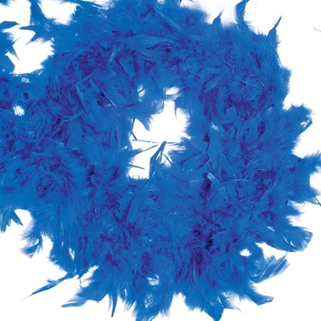 Feather Boa - Blue