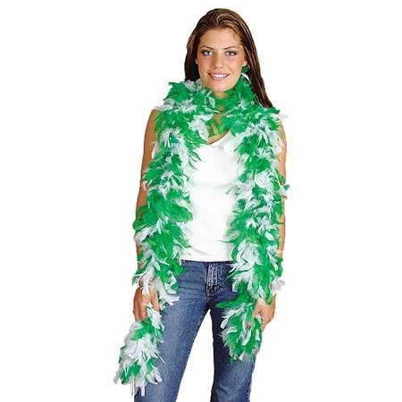 Green and White Spirit Boa