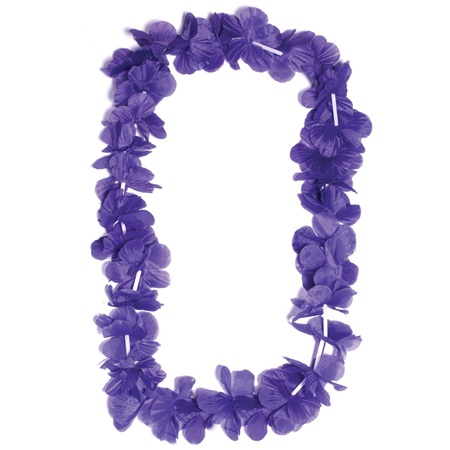 Purple Silk Spirit Lei