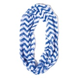 Royal Blue/White Chevron Spirit Scarf