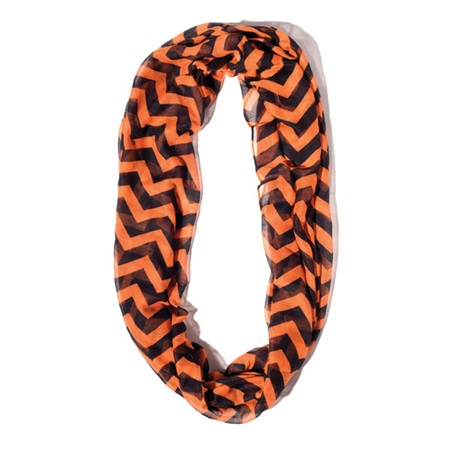 Orange/Black Chevron Spirit Scarf