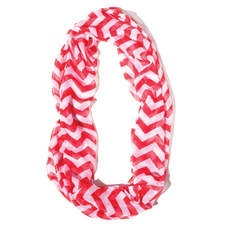 Red/White Chevron Spirit Scarf