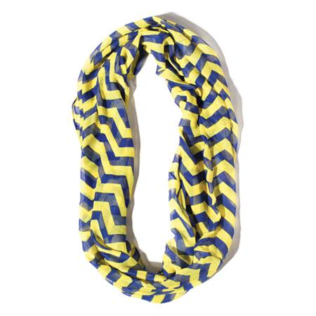 Royal Blue/Yellow Gold Chevron Spirit Scarf