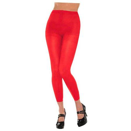 Red Footless Spirit Tights