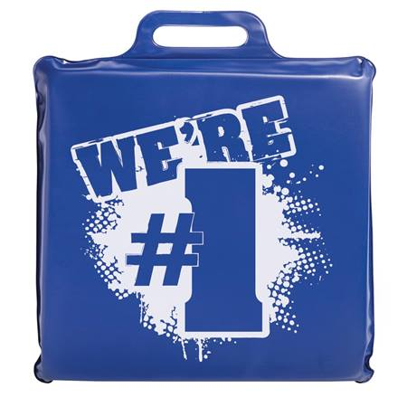 We're #1 Seat Cushion - Blue and White