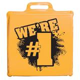 We're #1 Seat Cushion - Gold and Black
