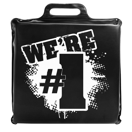 We're #1 Seat Cushion - Black and White
