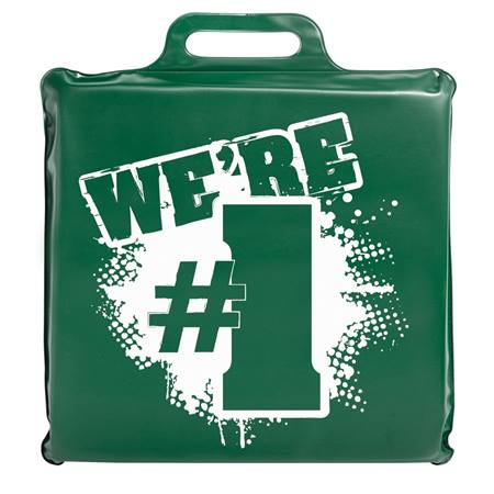 We're #1 Seat Cushion - Green and White