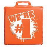 We're #1 Seat Cushion - Orange and White