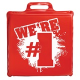 We're #1 Seat Cushion - Red and White