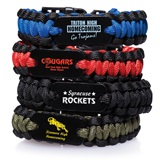 Paracord Wristband With Metal Plate - Black