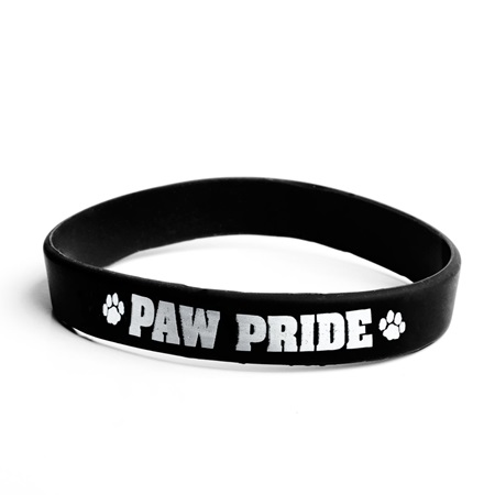 Paw Pride Wristbands - Black