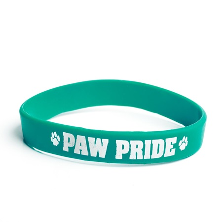 Paw Pride Wristband - Green