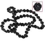 "Black 33"" Paw Spirit Beads"
