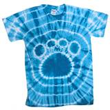 Columbia Blue Tie Dyed Paw T-Shirt