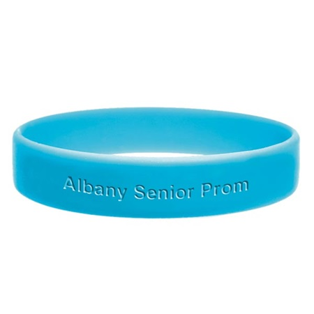 Columbia Blue Engraved Silicone Wristband