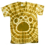 Gold Tie Dyed Paw T-Shirt