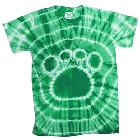 Green Tie Dyed Paw T-Shirt