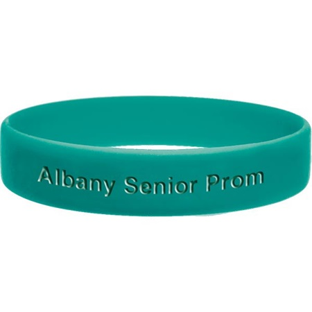 Green Engraved Silicone Wristband