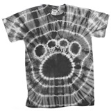 Grey Tie Dyed Paw T-Shirt