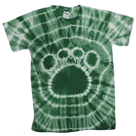Hunter Green Tie Dyed Paw T-Shirt