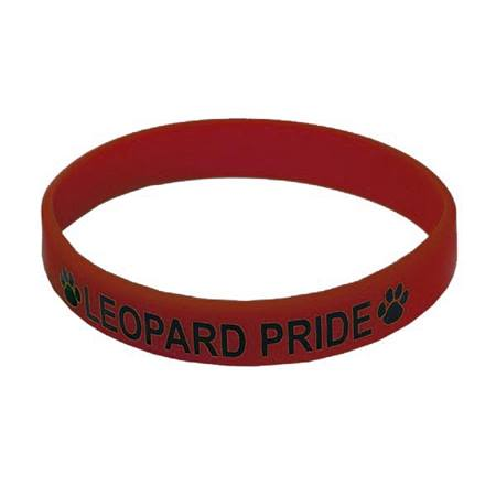 Maroon Screen-printed Silicone Wristband