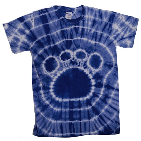 Navy Blue Tie Dyed Paw T-Shirt