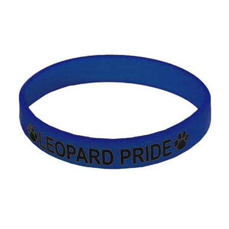 Navy Blue Screen-printed Silicone Wristband