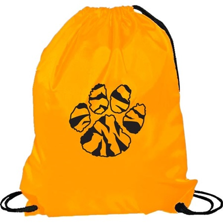 Orange Cinch Strap Notebook Backpack