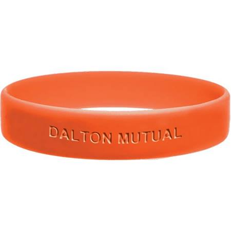 Orange Engraved Silicone Wristband