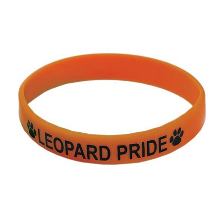 Orange Screen-printed Silicone Wristband