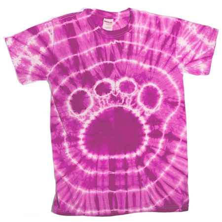 Pink Tie Dyed Paw T-Shirt
