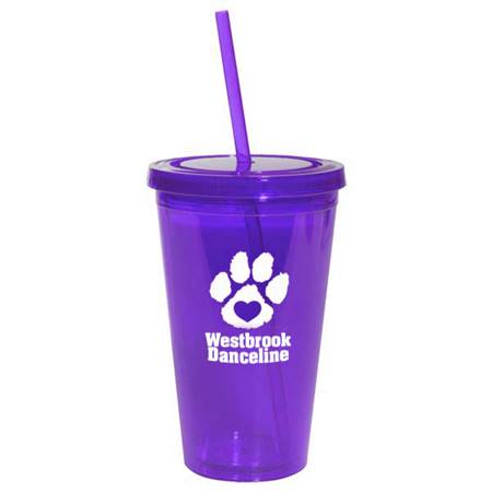 Purple 16 oz. Tumbler with Lid