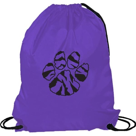 Purple Cinch Strap Notebook Backpack