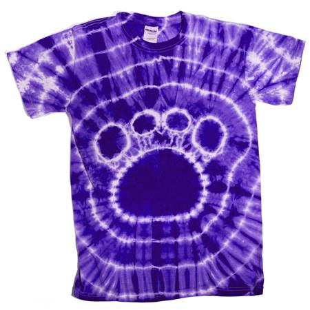 Purple Tie Dyed Paw T-Shirt