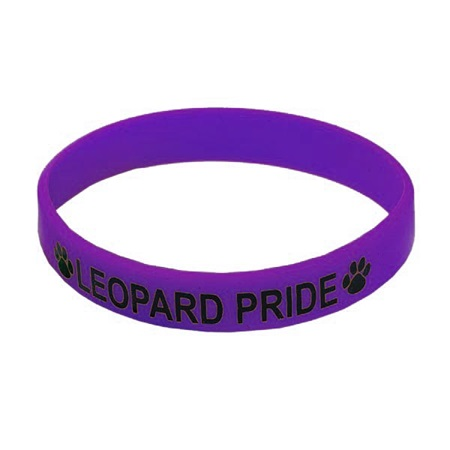 Purple Screen-printed Silicone Wristband