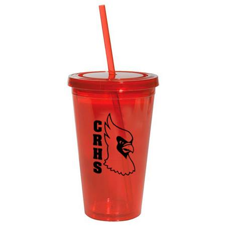 Red 16 oz. Tumbler with Lid