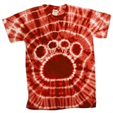Red Tie Dyed Paw T-Shirt