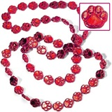 "Red 33"" Paw Spirit Beads"
