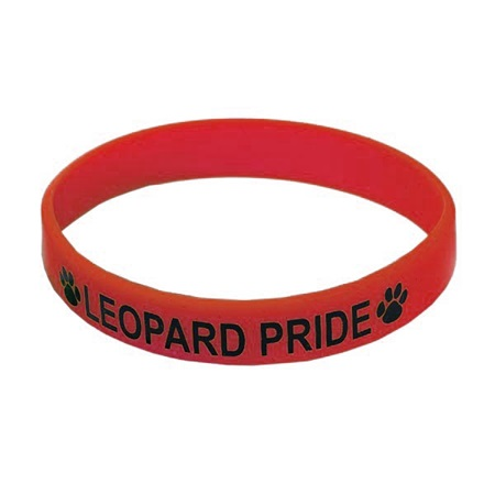 Red Screen-printed Silicone Wristband