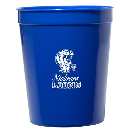 Royal Blue 16 oz. Stadium Cups