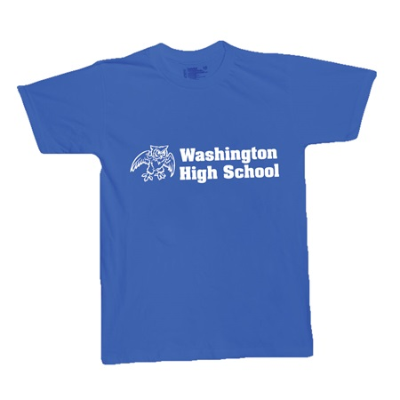 Royal Blue Custom Imprinted T-Shirt