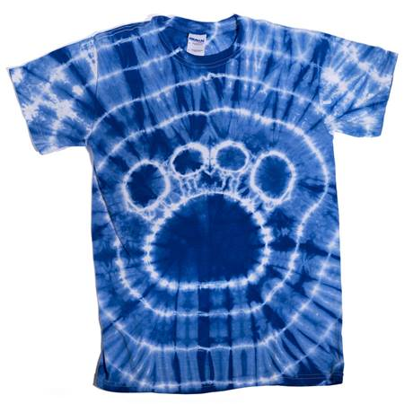 Royal Blue Tie Dyed Paw T-Shirt