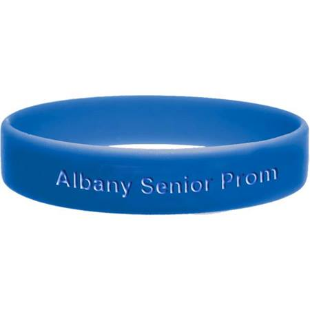Royal Blue Engraved Silicone Wristband