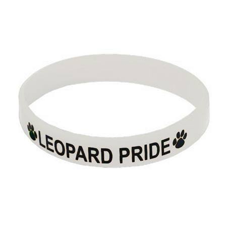 White Screen-printed Silicone Wristband
