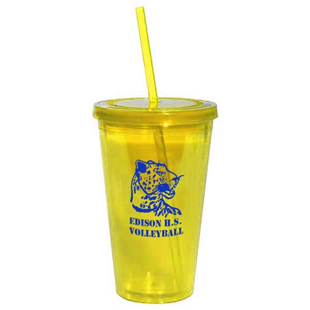Yellow 16 oz. Tumbler with Lid