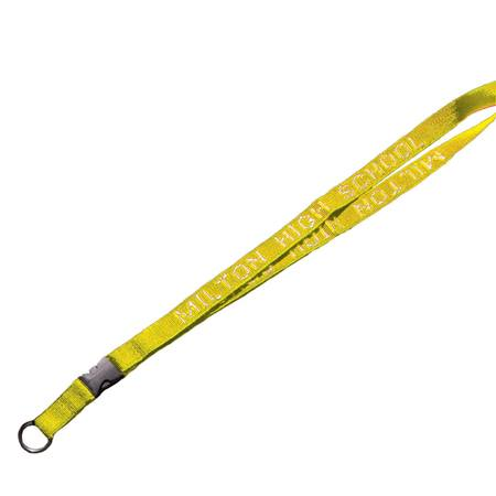Yellow Lanyard with Take Apart Buckle and Split Ring